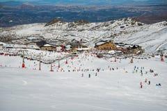 Centro turístico del invierno de Sierra Nevada Fotos de archivo libres de regalías