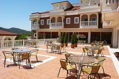 Centro turístico del jardín del hotel Fotografía de archivo libre de regalías