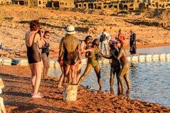 Centro turístico del mar muerto, Jordania Foto de archivo libre de regalías