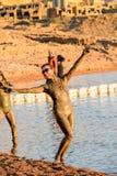 Centro turístico del mar muerto, Jordania Fotografía de archivo