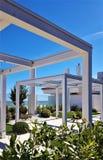 Centro turístico del mar del nazioni del delle de Lido, Italia, opinión de la calle fotografía de archivo libre de regalías