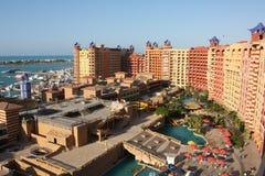 Centro turístico del puerto deportivo del puerto, Egipto fotografía de archivo