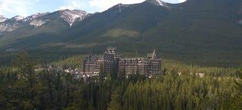 Centro turístico en Banff, Alberta, Canadá Fotos de archivo libres de regalías