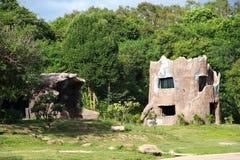 Centro turístico en el parque zoológico Imágenes de archivo libres de regalías