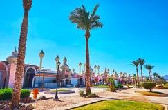 Centro turístico en la península del Sinaí, Egipto Fotos de archivo