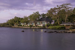 Centro turístico en la playa en Tailandia Imagenes de archivo