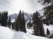 Centro turístico en las montañas foto de archivo