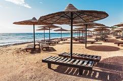 Centro turístico en las orillas del Mar Rojo Foto de archivo libre de regalías