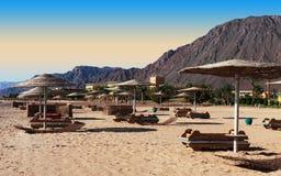 Centro turístico en las orillas del Mar Rojo Imagen de archivo