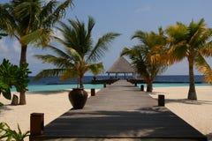 Centro turístico en Maldives Foto de archivo