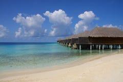 Centro turístico en Maldives Imágenes de archivo libres de regalías