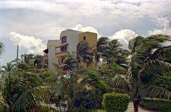 Centro turístico en un windstorm Imagen de archivo