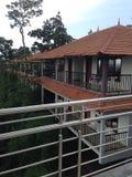 Centro turístico encima del acantilado foto de archivo