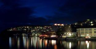 Centro turístico famoso Ohrid Foto de archivo
