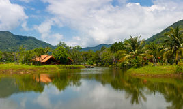 Centro turístico hermoso Fotografía de archivo libre de regalías