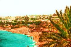 Centro turístico hermoso en el Mar Rojo de Egipto Imagen de archivo