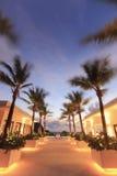 Centro turístico hermoso en la noche Fotografía de archivo libre de regalías