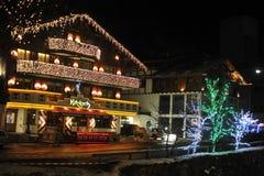centro turístico Ischgl austria El Tyrol del sur Diciembre de 2013 Fotografía de archivo
