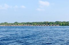 Centro turístico isleño de Kuramathi, Maldivas fotografía de archivo
