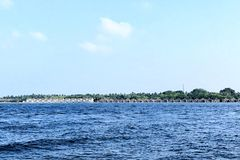 Centro turístico isleño de Kuramathi, Maldivas foto de archivo libre de regalías