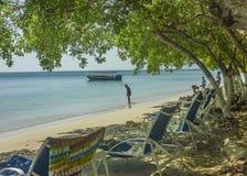 Centro turístico isleño tropical en Cartagena Colombia Imagen de archivo