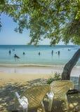 Centro turístico isleño tropical en Cartagena Colombia Fotos de archivo
