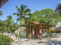 Centro turístico isleño tropical en Cartagena Colombia Foto de archivo libre de regalías