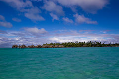 Centro turístico isleño y balneario de Le Tahaa Imagen de archivo libre de regalías
