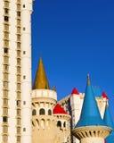 Centro turístico Las Vegas de Excalibur fotografía de archivo