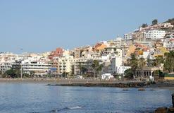 Centro turístico Los Cristianos, Tenerife España Fotos de archivo libres de regalías