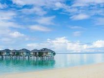 Centro turístico maldivo Foto de archivo libre de regalías