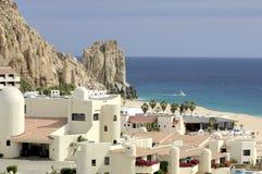 Centro turístico mexicano en Cabo San Lucas, México Fotos de archivo libres de regalías