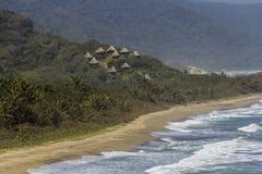 Centro turístico ocultado tropical imagen de archivo