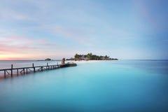 Centro turístico por el mar Fotos de archivo