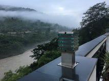 Centro turístico Rishikesh de Riversite del punto de visión @ imagen de archivo libre de regalías