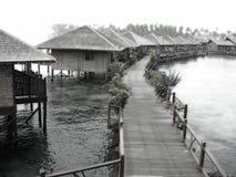 Centro turístico soñador de la aldea del agua Imagen de archivo libre de regalías