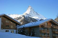 Centro turístico suizo Zermatt Imágenes de archivo libres de regalías
