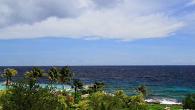 Centro turístico tropical almacen de metraje de vídeo