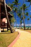 Centro turístico tropical Imagen de archivo libre de regalías