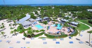 Centro turístico tropical Claves de la Florida EE.UU. almacen de metraje de vídeo
