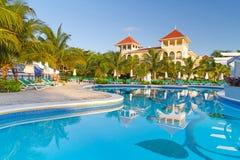 Centro turístico tropical de lujo en México Fotos de archivo libres de regalías