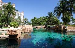 Centro turístico tropical del hotel imagen de archivo