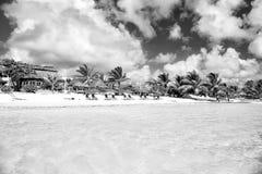Centro turístico tropical el día soleado en Costa Maya, México Fotos de archivo libres de regalías