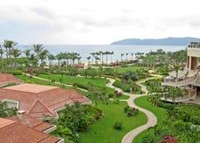 Centro turístico tropical en el mar del sur de China Foto de archivo