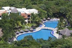 Centro turístico tropical en México Foto de archivo libre de regalías