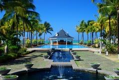 Centro turístico tropical. Mauricio Fotografía de archivo libre de regalías