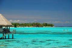 Centro turístico tropical Moorea, Polinesia francesa Imagen de archivo libre de regalías