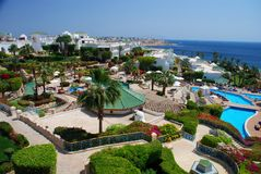 Centro turístico turístico Sharm el Sheikh Mar Rojo, Egipto fotos de archivo libres de regalías