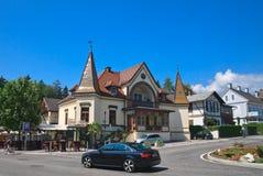 Centro turístico Velden Worthersee austria Fotos de archivo libres de regalías