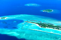 Centro turístico y balneario de Sheraton Maldives Full Moon Island Foto de archivo